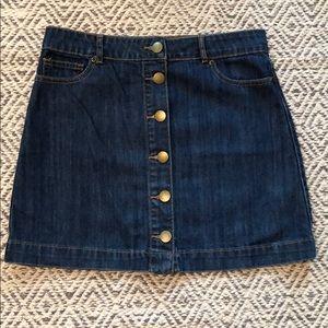 NWT Forever 21 Button Up Denim Skirt